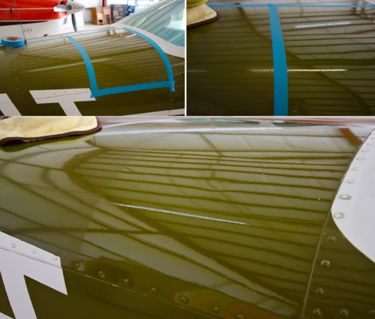 Paint restoration on Cessna Cardinal